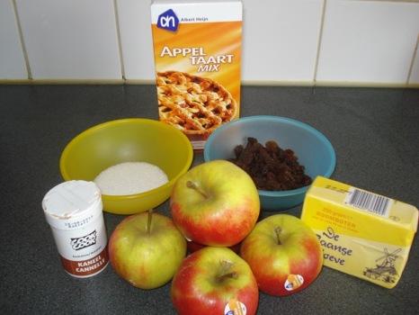 Ingrediënten voor appeltaart